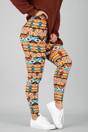 Pattern Print Leggings || 4