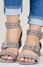 Janet Heels | Taupe