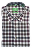 Forsyth of Canada Classic Fit Non-Iron Long Sleeve Grid Check Sport Shirt 8394-JUN