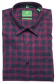 Forsyth of Canada Classic Fit Non-Iron Long Sleeve Grid Check Sport Shirt 8395-CRT