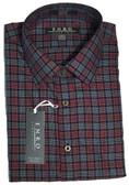 Enro Non-Iron Spread Collar Navy Check Big & Tall Sportshirt