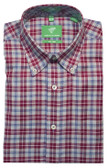Forsyth of Canada Classic Fit Non-Iron Long Sleeve Multi Check Sport Shirt 8396-BER