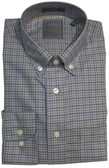 Enro Non-Iron Gray Check Button Down Collar Sportshirt