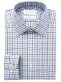 Enro Non-Iron Spread Collar Hartline Check Dress Shirt