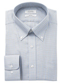 Enro Non-Iron Button Down Collar Lacrosse Check Dress Shirt