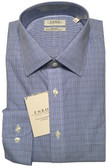 Enro Non-Iron Spread Collar Blue Mini Grid Dress Shirt