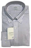 Enro Non-Iron Button Down Collar Pink Check Dress Shirt