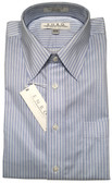 Enro Non-Iron Regular Collar Blue Striped Dress Shirt