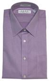 Enro Non-Iron Spread Collar Lavander Sharkskin Tall Dress Shirt