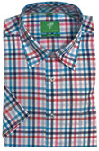 Forsyth of Canada Classic Fit Non-Iron Short Sleeve Multi Grid Sport Shirt 8163S-CBA