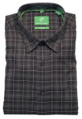 Forsyth of Canada Classic Fit Non-Iron Long Sleeve Grid Check Sport Shirt 8403-COA