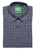 Forsyth of Canada Classic Fit Non-Iron Long Sleeve Grid Check Sport Shirt 8247-MID
