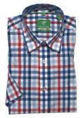 Forsyth of Canada Classic Fit Non-Iron Short Sleeve Grid Check Sport Shirt 8327S-WAM