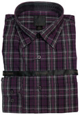 Fusion Charcoal/Purple Plaid Sportshirt