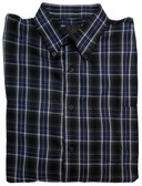 Fusion Charcoal/Navy Plaid Sportshirt