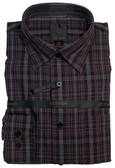 Fusion Black/Burgundy Plaid Sportshirt