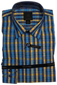 Fusion Aqua/Yellow Check Sportshirt