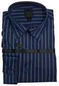 Fusion Silver/Royal Stripe Big & Tall Sportshirt