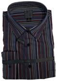 Fusion Black/Burgundy/Blue Stripe Big & Tall Sportshirt