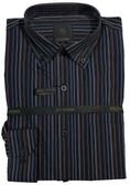 Fusion Black/Blue Multi Stripe Sportshirt
