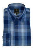 Fusion Blue Ombre Plaid Big Size Sportshirt