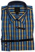 Fusion Aqua/Yellow Check Big Size Sportshirt