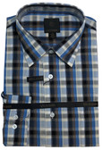 Fusion Black/Blue Plaid Tall Size Sportshirt