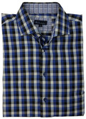 BLU by Polifroni Spread Collar Blue Check Sportshirt