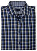 BLU by Polifroni Spread Collar Blue Check Sportshirt