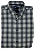 Serica Elite Hidden Button Down Collar Grey Paisley Sportshirt