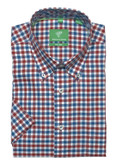 Forsyth of Canada Classic Fit Non-Iron Short Sleeve Multi Check Sport Shirt 8336S-BCK