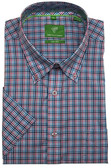 Forsyth of Canada Classic Fit Non-Iron Short Sleeve Mini Check Sport Shirt 8162S-CTL