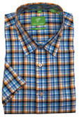 Forsyth of Canada Classic Fit Non-Iron Short Sleeve Multi Check Sport Shirt 8172S-MDN