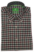 Forsyth of Canada Classic Fit Non-Iron Long Sleeve Multi Check Sport Shirt 8252-BRG