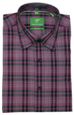 Forsyth of Canada Classic Fit Non-Iron Long Sleeve Multi Check Sport Shirt 8254-SGA