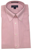 Enro/Damon Ultra Poplin Button Down Collar Light Pink Check Dress Shirt - 150084
