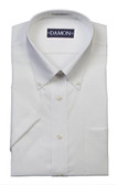 Enro/Damon Pinpoint Oxford Button Down Collar Short Sleeve Big Size Dress Shirt - 100125