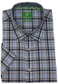 Forsyth of Canada Classic Fit Non-Iron Short Sleeve Multi Check Sport Shirt 8152S-STN