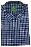Forsyth of Canada Classic Fit Non-Iron Long Sleeve Grid Check Sport Shirt 8160-SFM