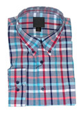 Fusion Navy/Red Multi Oxford Check Sportshirt