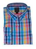 FX Fusion Blue Multi Check Sportshirt