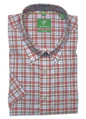 Forsyth of Canada Classic Fit Non-Iron Short Sleeve Multi Check Sport Shirt 8338S-RWD