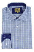Trend by Fusion Blue Textured Check Sportshirt