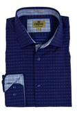 Trend by Fusion Navy Diamond Print Sportshirt