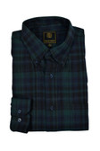 Fusion Green/Navy Watch Plaid Flannel Sportshirt