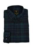 FX Fusion Green/Navy Watch Plaid Flannel Sportshirt