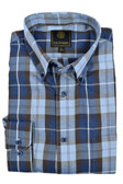 Fusion Denim Plaid Tall Size Sportshirt