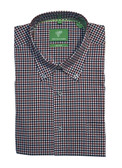 Forsyth of Canada Classic Fit Non-Iron Long Sleeve Mini Check Sport Shirt 8227-PIC