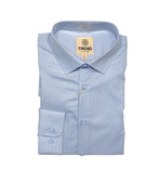 Trend by Fusion Light Blue Micro Dot Sportshirt