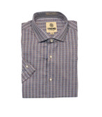 Trend by Fusion Navy/Brown Short Sleeve Sportshirt